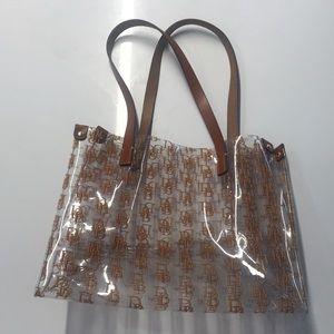 Dooney & Bourke Bags - Dooney & Bourke clear medium shopper tote w/logo